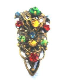 Tiny Little Jewelled Bohemian Dress Clip -  1920's/1930's Costume Jewellery (SOLD)